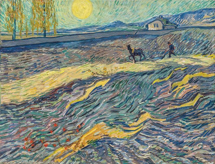 Vincent van Gogh (1853-1890), Laboureur dans un champ, early September 1889. Oil on canvas. 19⅞ × 25½ in (50.3 × 64.9 cm).