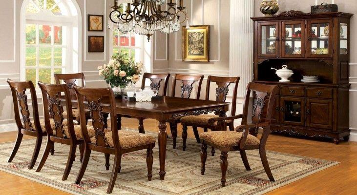 Seymour Dark Oak Rectangular Extendable Leg Dining Room Set From