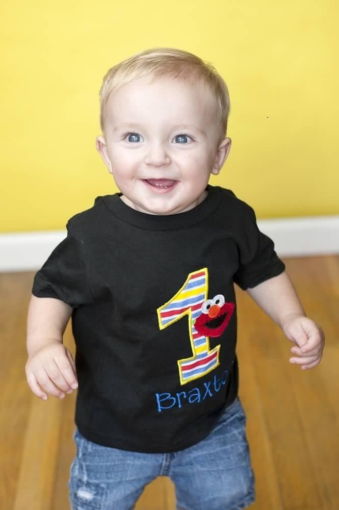 Personalized Elmo Birthday Shirt by TheTinyCloset on Etsy
