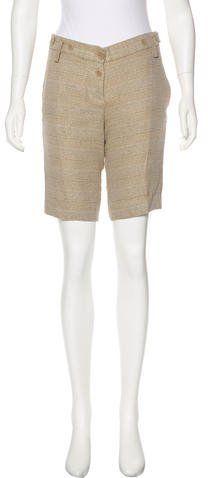Chloé Knee-Length Tweed Shorts