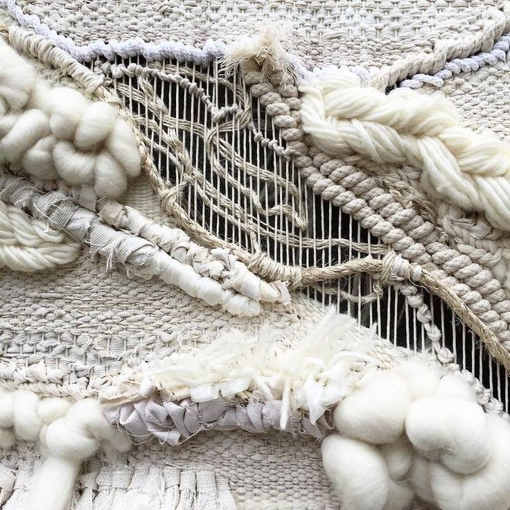 Woven textiles design with mixed fibres for heavy texture & contrast; weaving; textile art // Crossing Threads