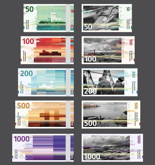 これは斬新!2017年から始まるノルウェーの新紙幣がピクセル風デザイン
