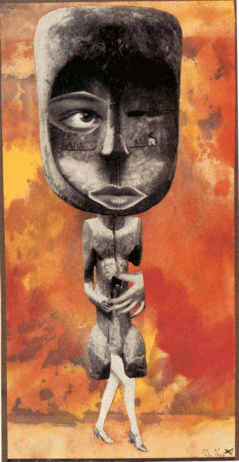 Hannah Höch - The Sweet One,1926. Höch was the lone woman among the Berlin Dada group, although others were also important, if overlooked, Dada figures. Höch references the hypocrisy of the Berlin Dada group and German society as a whole in her photomontage, Da-Dandy.