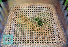 Tutorial: Replacing a Caned Seat.  Maybe I can re-cane Great Grandma Jennie Jackson Harris' old rocking chair after all.