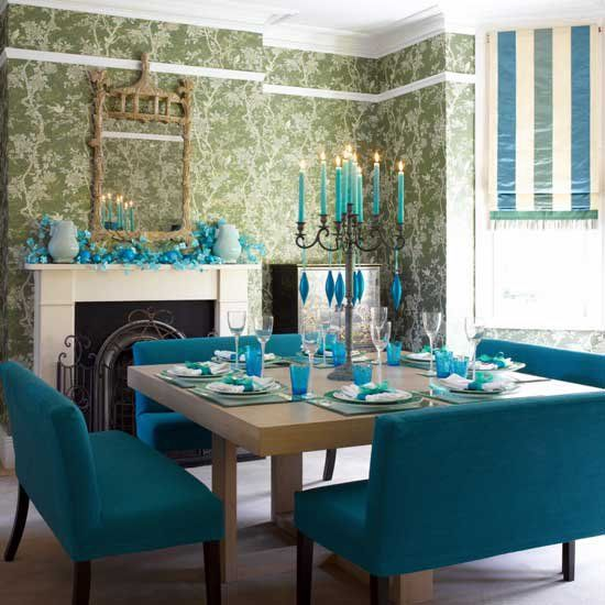 Teal Dining Room: Formal Teal :)