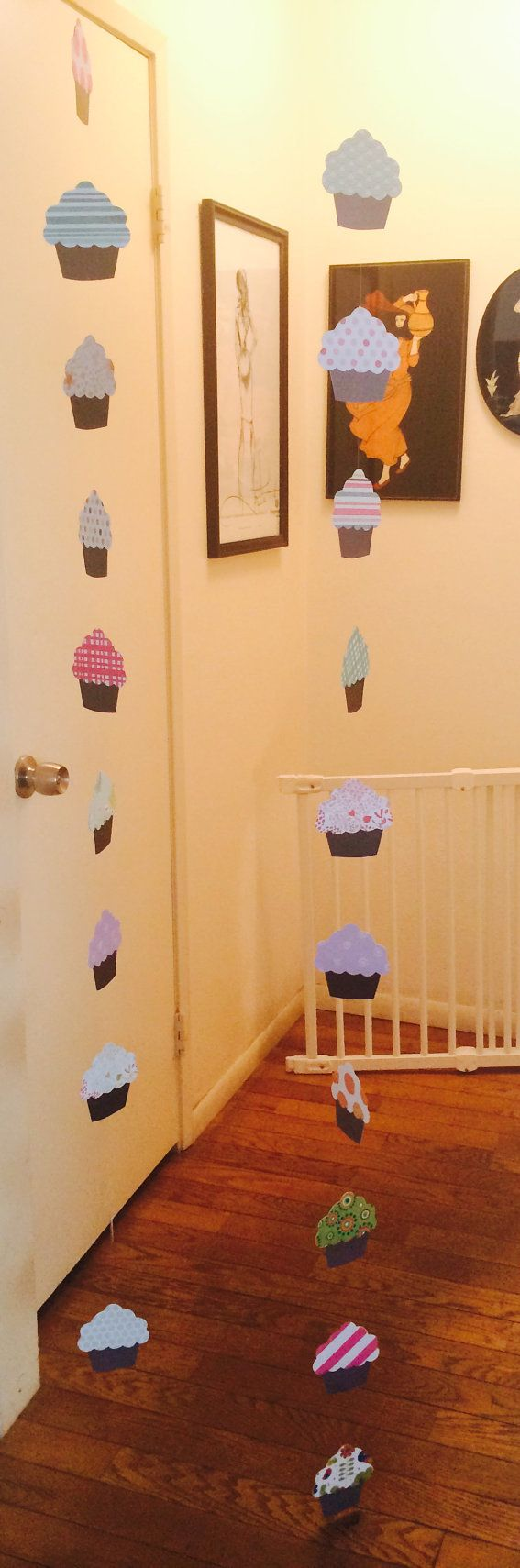 Cupcake Garland for Decoration or Backdrop by Besttimeever on Etsy