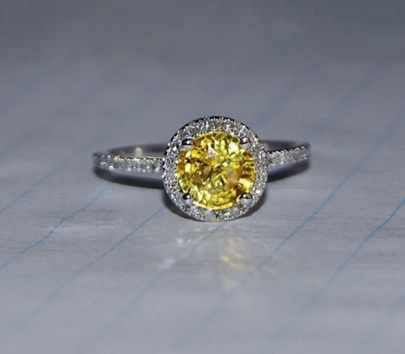 Round Yellow Sapphire Ring for my right hand. Some day.