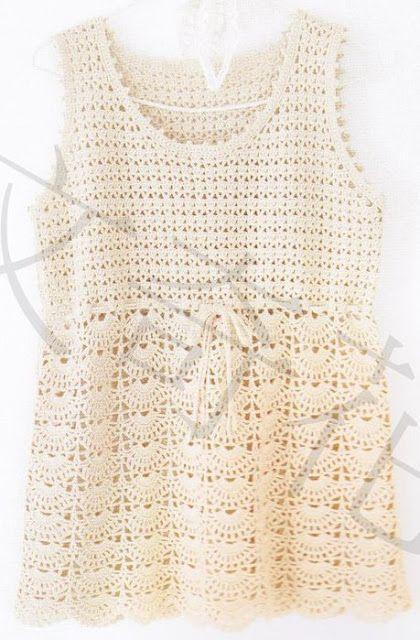 Crochet Knitting Handicraft: tunic