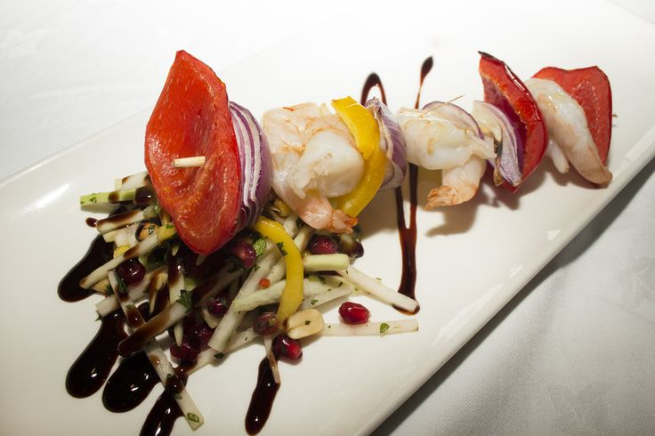 King Prawn Skewer served with a Thai salad and dipping sauce