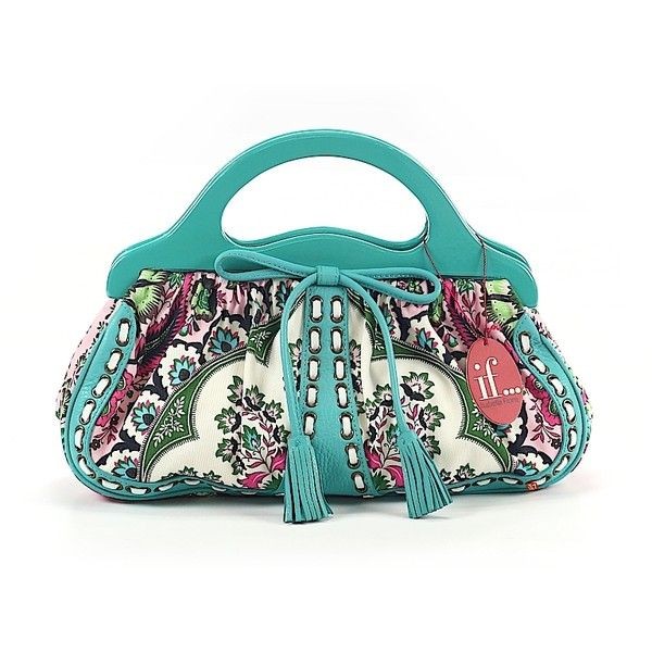 Isabella Fiore Satchel ($136) ❤ liked on Polyvore featuring bags, handbags, teal, handbag purse, man bag, teal purse, teal handbag and white satchel