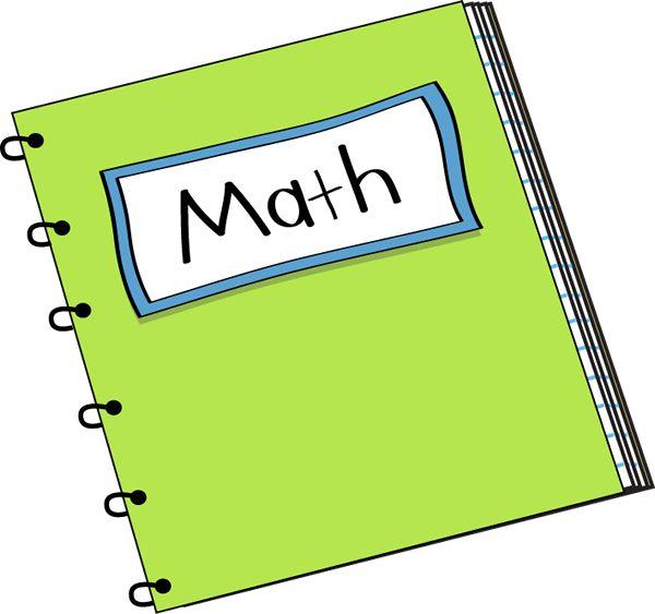 Math Notebook Clip Art - Math Notebook Vector Image   Math clipart, Math notebook, Free math