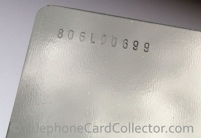 Last ever (normal/thicker plastic) optical BT Phonecard produced by Landis and Gyr in Switzerland in June 1998. A Service Card, featuring the control number 806L00699.