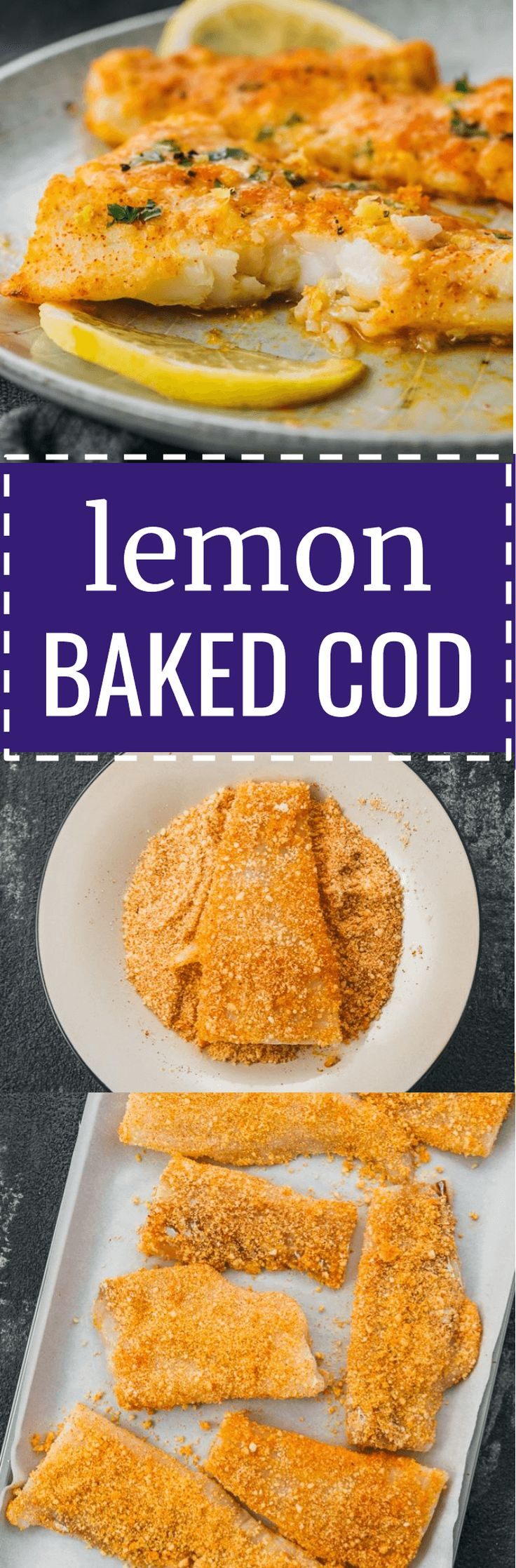 A delicous baked cod with lemon juice and parmesan cheese that's very low in carbs and keto friendly. low carb / diet / atkins / induction / meals / recipes / easy / dinner / lunch / foods / healthy / gluten free / WW2 / fish / lemon butter / how to cook / breaded / easy / seasoning / crusted / fillet / buttered / sauce / oven / foil / roasted / for beginners #fish #seafood #keto #lowcarb
