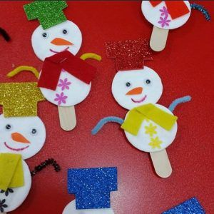 Recycled Snowman Craft Idea For Kids
