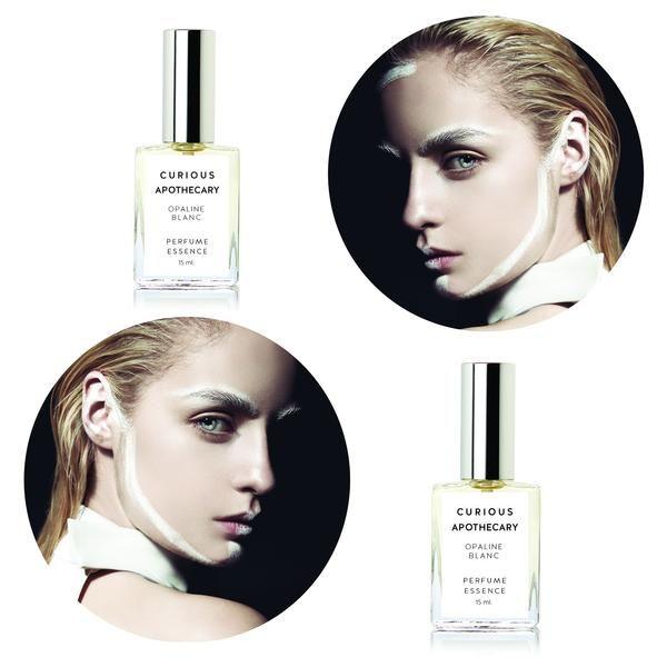 Opaline Blanc perfume. Gardenia tuberose Island iridescent by Curious Apothecary