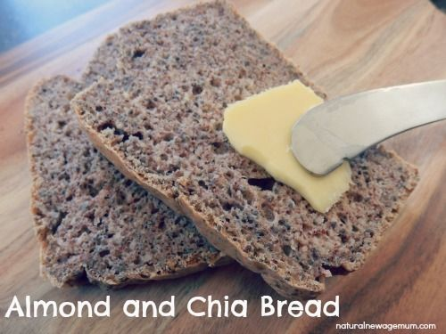 Tania's Almond and Chia Bread - Natural New Age Mum - use egg replacer to veganise