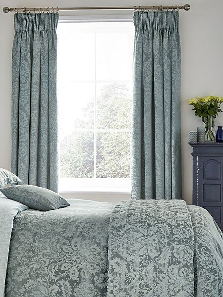 Floriella lined curtains 66X72 Slate Blue