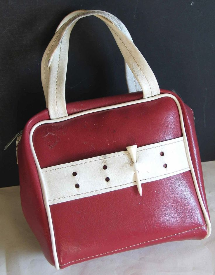 Vintage Golf Gear and Accessories Vinyl Sports Zipper Bag Maroon White Trim | eBay