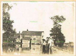 OLD-PHOTO-LADIES-ANGLING-AT-SCULTHORPE-MILL-FAKENHAM-NORFOLK-VINTAGE-C-1900-05