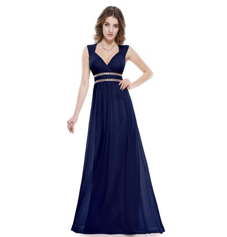Kleid wadenlang blau