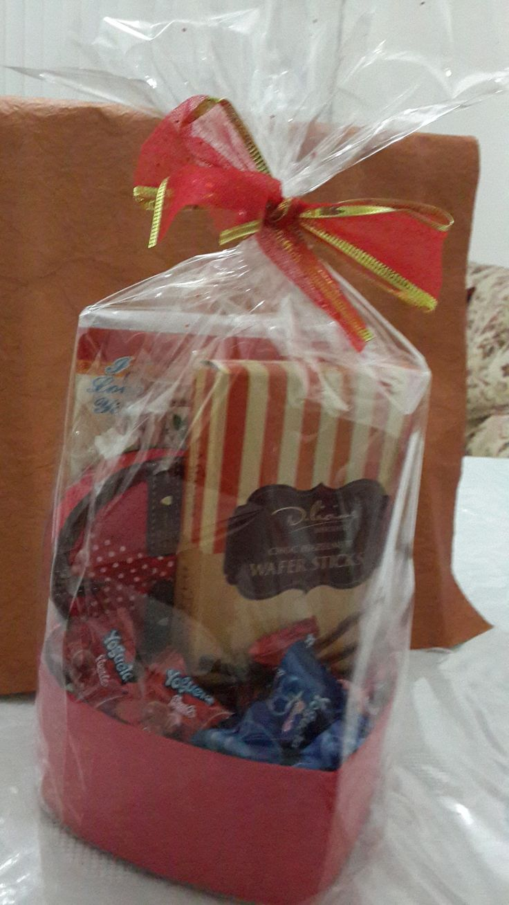 Gift box, Wafers and card