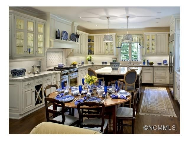 Classic white kitchen.  (Asheville NC real estate listing)
