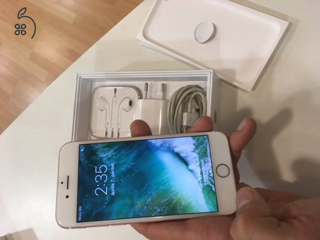 GYÖNYÖRŰ iPhone 6S 64gb rózsaarany/rosegold színű gyári kártyafüggetlen mobiltelefon eladó dobozában gyári töltőkábellel és töltőfejjel bontatlan fülhallgatójával!+ajándék professzionális üvegfóliával!+ajándék ingyenes adatmentés!Makulátlan tökéletes állapotban!1 hónap garanciával!Azonnal megtekinthető igényes III. kerületi üzletünkben kérésre futárszolgálattal küldjük az ország minden részére!Üzletünk hétvégén is nyitva tart!NON-STOP hívhatók vagyunk! iMessage is!