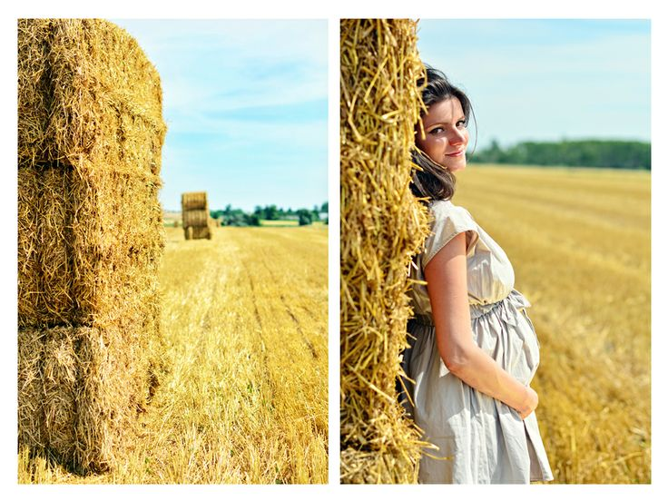 Barbara Maternity Photography • photo by Dalocska - United Photographers • #maternity #wheatfield #expectant #pregnant #motherhood #photography