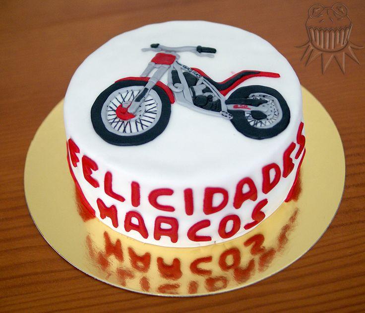Gasgas txt boy 50CC. Trial motorbike Cake. Tarta moto trial.