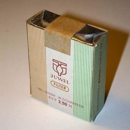 """"""" #JUWEL Filter"""" - 20 Filterzigaretten - EVP M 2,50 ---- """"JUWEL"""" - Filter-Cigarettes from the #GDR #DDR"""