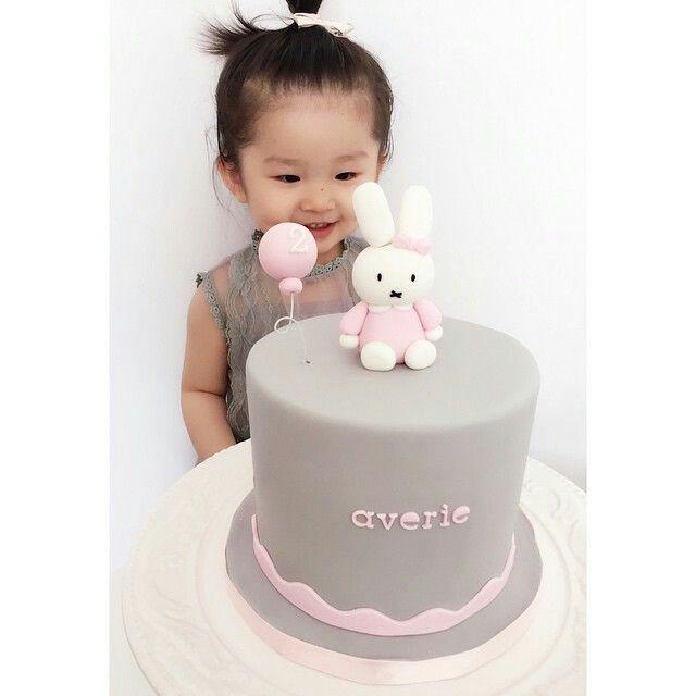 Miffy cake. First birthday