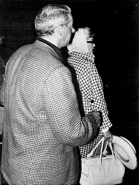 """Marilyn Monroe and Joe DiMaggio, 1961. """