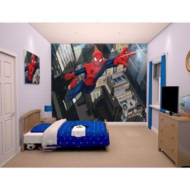 Ultimate Spider-Man web behang - 12 stukken
