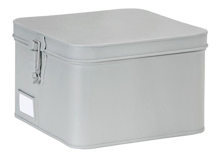 Box vierkant 101: stoer en overzichtelijk opbergen! Verkrijgbaar in blauw, antraciet en grijs #101woonideeen #leenbakker