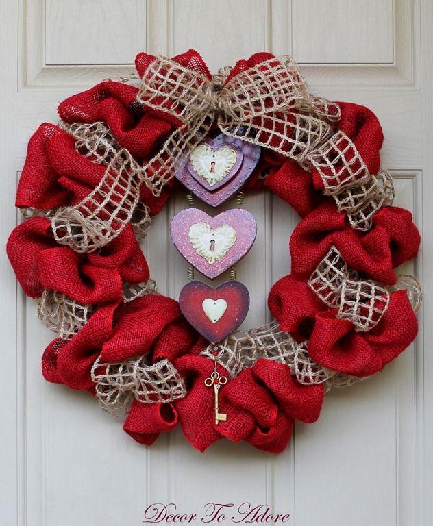best 25 valentine wreath ideas on pinterest valentine crafts valentines and valentine day. Black Bedroom Furniture Sets. Home Design Ideas