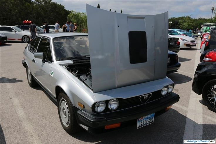 Alfa Romeo GTV6. As seen at the May 2014 Cars and Coffee event in Austin TX USA.
