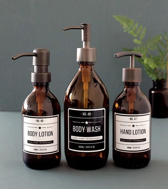 Voor Onze Badkamer Fresh Up Amber Glass Lotion Dispenser Soap