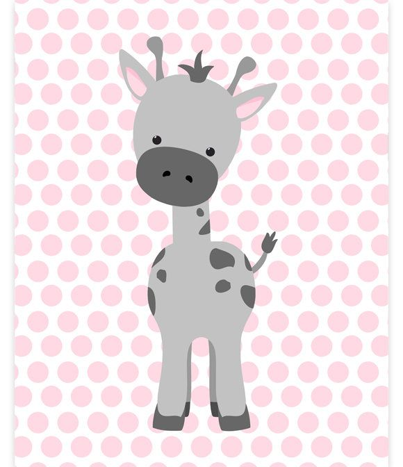 Giraffe Nursery Art, Baby Girl Zoo Art, Zoo Nursery Decor, Grey and Pink, Zoo Wall Art, Baby Zoo Decor, Gender Neutral, Giraffe Canvas Print by SweetPeaNurseryArt on Etsy