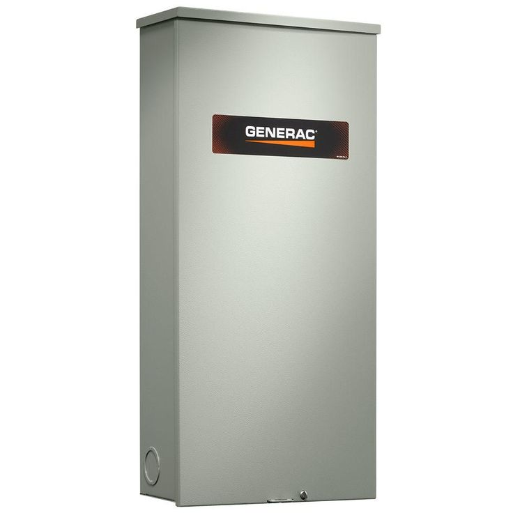 Generac 200 Amp Service Rate Whole House Transfer Switch Rxsw200a3 The Home Depot In 2020 Transfer Switch Generation Generator House