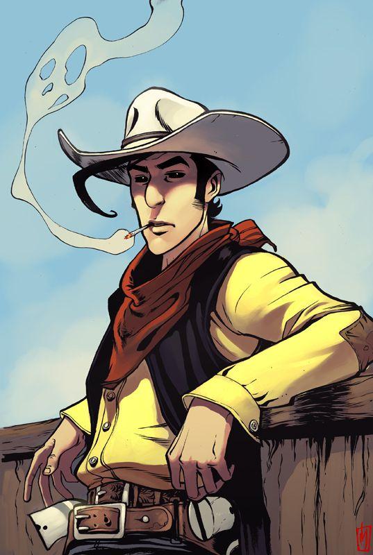 Lucky Luke est une série de bande dessinée franco-belge de western humoristique créée par Morris dans l'Almanach 1947.  Il s'agit d'une des bandes dessinées les plus connues et les plus vendues en Europe, elle a été traduite dans de nombreuses langues. La série a aussi été adaptée sur de nombreux supports, en long-métrages d'animation et séries animées pour la télévision, en films, jeux vidéo, jouets et jeux.