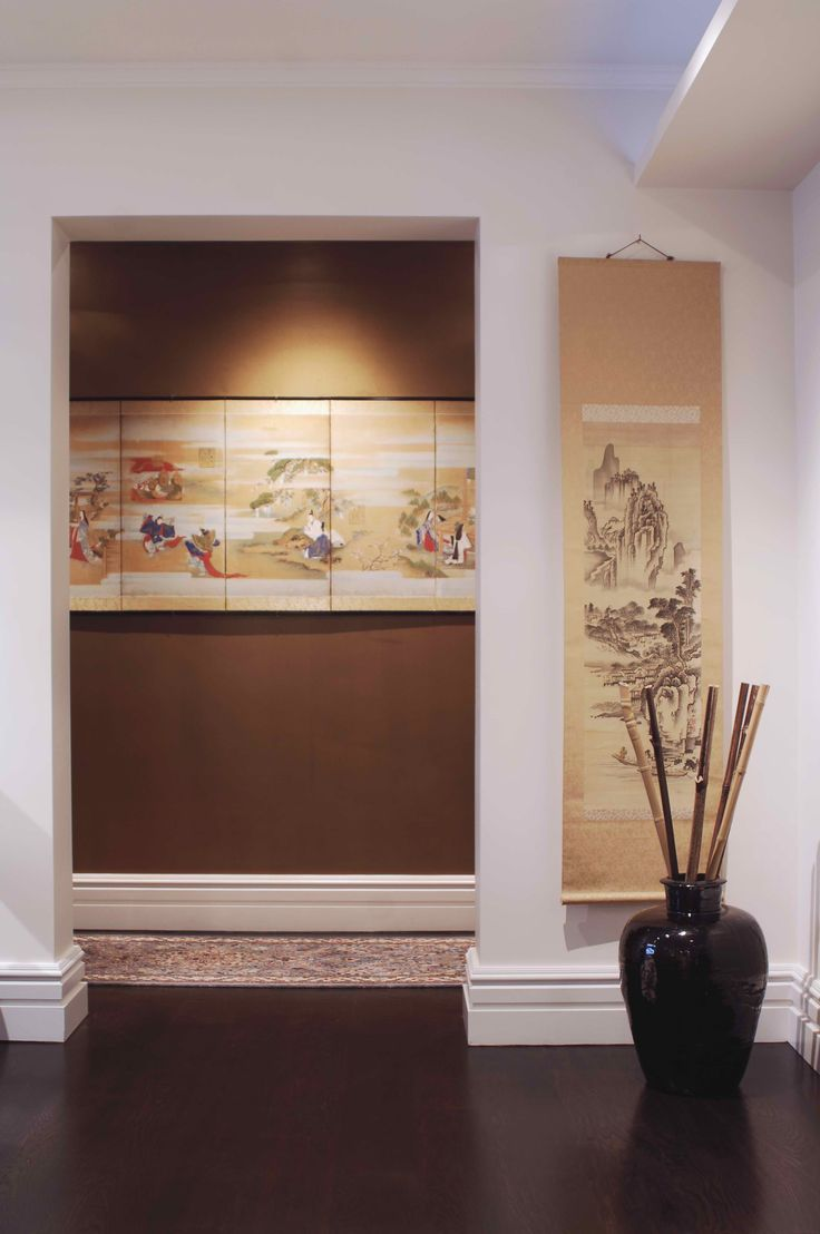 Entry hall painted in Gold. Brooke Aitken Design.