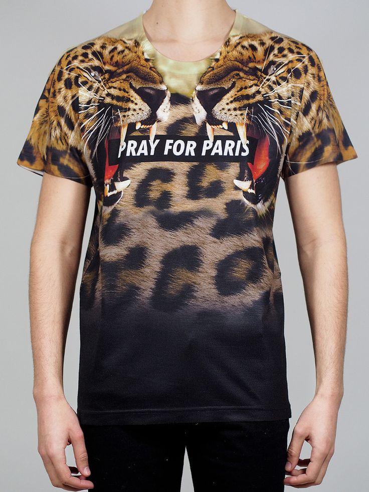 Pray for Paris 'Leopard' t-shirt (March 18th)