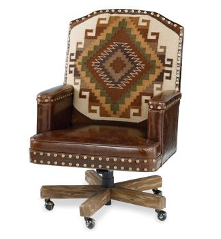 Southwestern Furniture Old Hickory Furniture Rustic Ranch Style Furniture  Great Office Chair