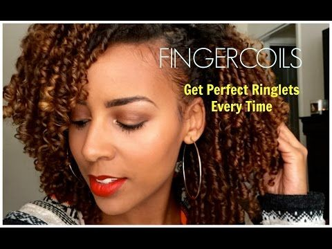 Natural Hair   Fingercoils Tutorial #naturalhair