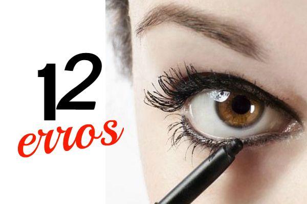 Muitas mulheres cometem erros na hora de maquiar os olhos. Conversando com especialistas no assunto, reunimos as 12 falhas mais freqüentes. Veja!