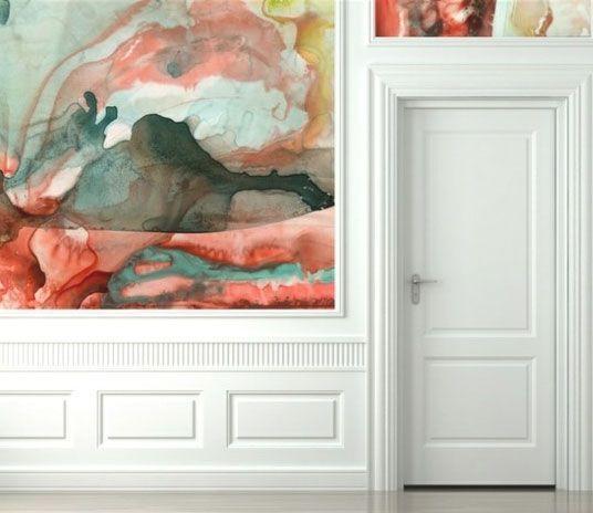 Watercolor Wallpaper. Black Crow Studios: Idea, Decoration, Interiors, Watercolor Walls, Crows Studios, Watercolor Wallpapers, Art, Black Crows, Design