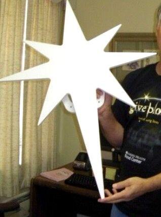 Diy Star Of Bethlehem. Use wood or foam board