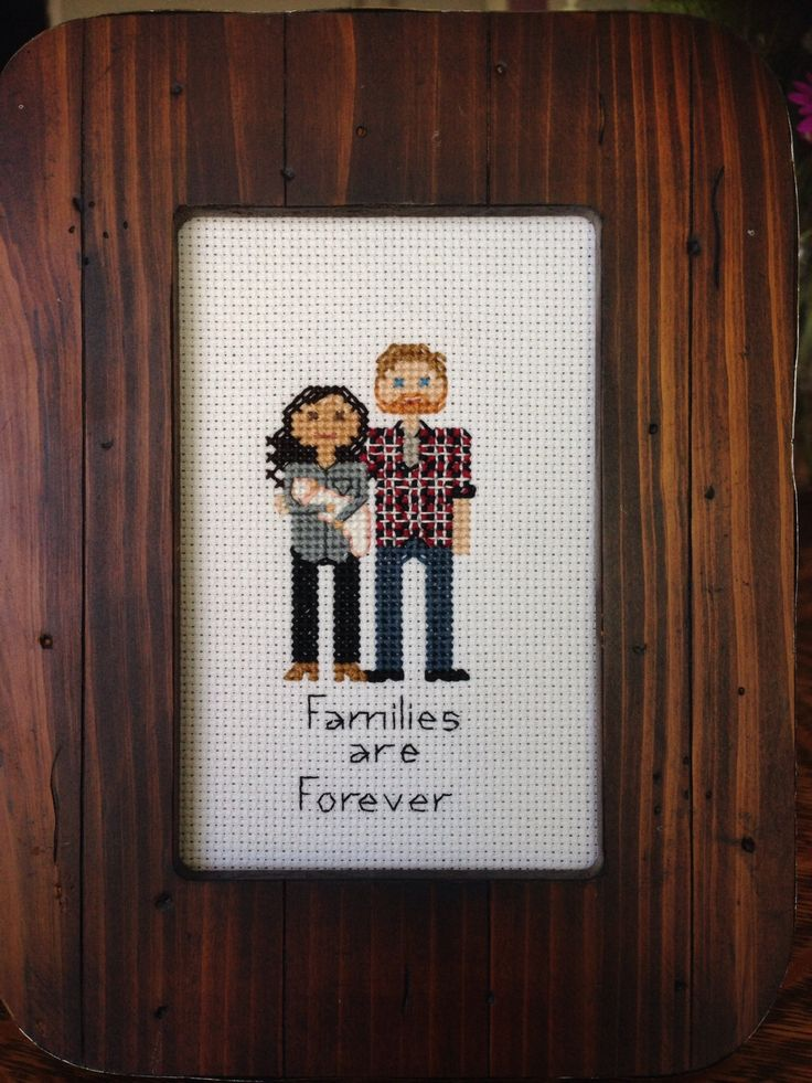 Cross Stitch Family Portrait in hoop or no by AStitchingGoodTime, $30.00