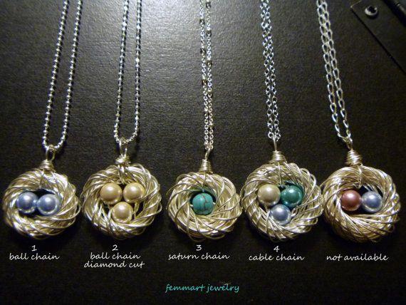13 best bird nest necklace images on pinterest bird nests bird bird nest necklace nest pendant mothers day by femmartjewelry aloadofball Choice Image