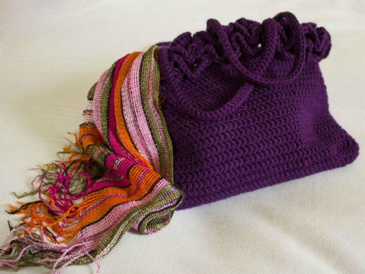 Tutoriale DIY: Cómo hacer un bolso de crochet vía DaWanda.com